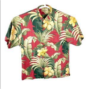 Tommy Bahama Hawaiian Button Down Shirt Floral M